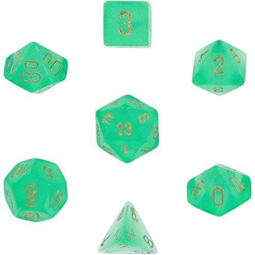 Chessex CHX27425 Dice-Borealis Set, Light Green/Gold ()