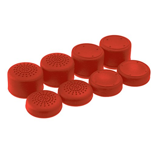 AceShot Thumb Grips (8pc) for Xbox One (& One S) by Foamy Lizard ® Sweat Free 100% Silicone Precision Raised Antislip Rubber Analog Grips For Xbox One Controller (8 grips) RED