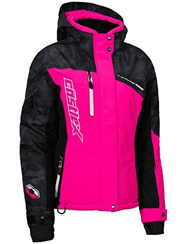 Castle X Powder Women's Snowmobile Jacket - Alpha Black/Pink Glo (MED)