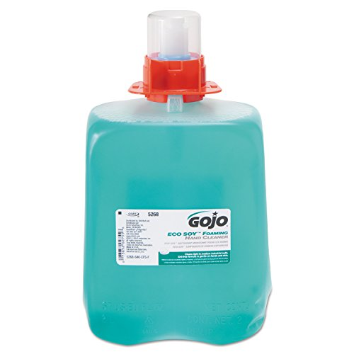 gojo-5268-03-dpx-eco-soy-foaming-hand-cleaner-2000-ml-refill-blue-green-pack-of-3