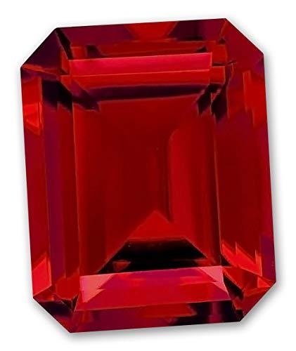 12x10mm Octagon Emerald Cut Gem Quality Chatham Lab-Grown Ruby Weighs 7.20-8.50 Ct.