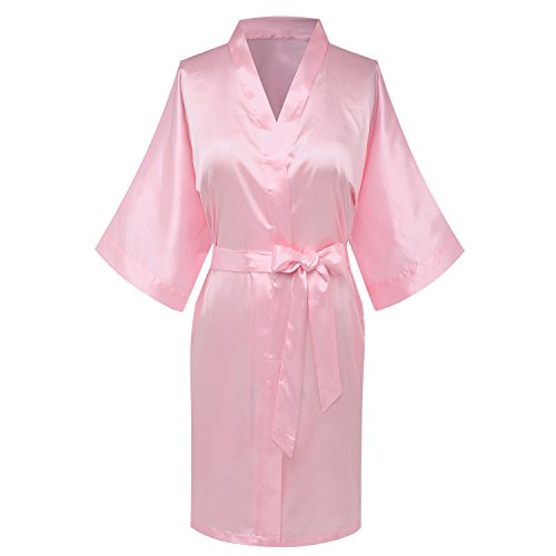 goodmansam Women's Simplicity Style Bridesmaid Wedding Party Kimono Robes, Short ()