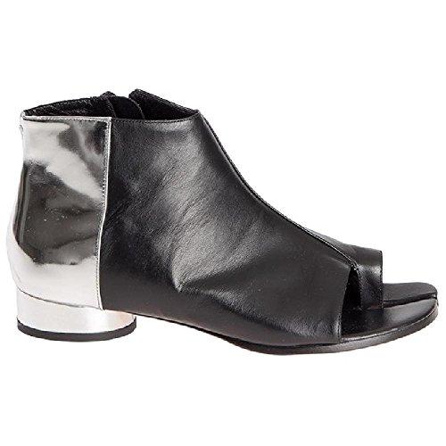 Maison Margiela Women's Black Leather Ankle Boots - Booties Shoes - Size: 6 - Margiela Boutique