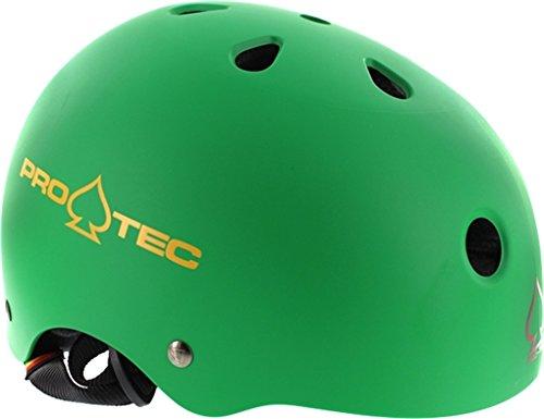 (PRO-TEC Classic Matte Rasta Green Skateboard Helmet - (Certified) - Junior / 20.1