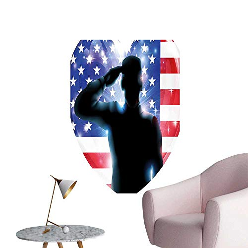 Vinyl Artwork Funny French Bulldog with Sunglasses in American Costume Hiding Graphic Art Easy to Peel Easy to Stick,20