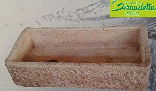 Pila de fregadero de cemento para jardín de estilo rústico, 80 x 40 x 20 cm: Amazon.es: Jardín