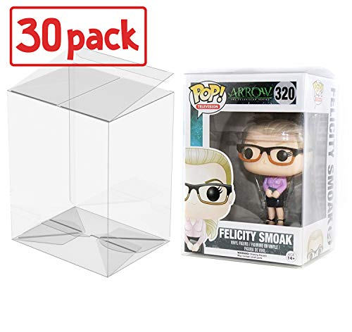 "PLAYOLY Pop Protector Case for Funko - 4"" Inch Pop! Vinyl Figures, Strong Pop Protectors, Crystal Clear, Heavy Duty Acid Free w/ Protective Film Lot of 30"