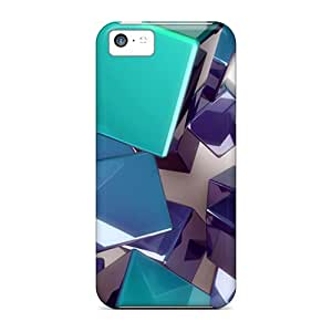 Xyq2524FoeM Tpu Phone Cases With Fashionable Look For Iphone 5c - 3d Cubes