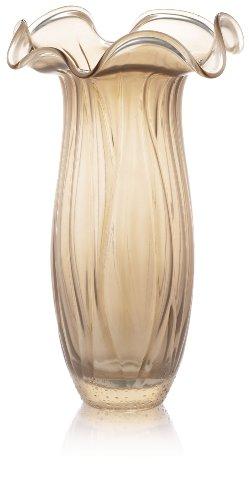 IVV Glassware Magnolia Vase 15-Inch Height, Ivory Decoration