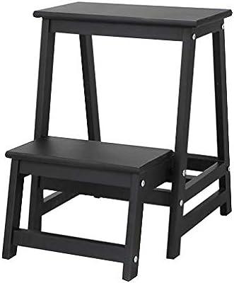 Taburete con escalones Taburete con escalones Taburete con peldaños plegable Taburete de pie de madera maciza para interiores Escalera de dos peldaños Gabinete de casa Banco de escaleras Banco de zapa: Amazon.es: