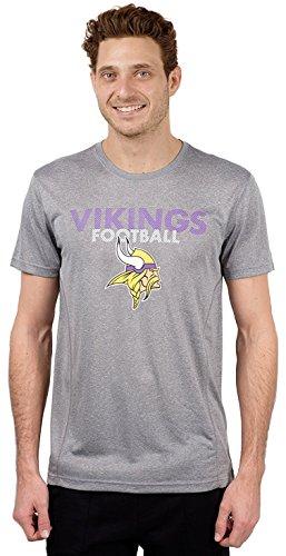 NFL Minnesota Vikings Men's T-Shirt Athletic Quick Dry Active Tee Shirt, Large, Gray ()