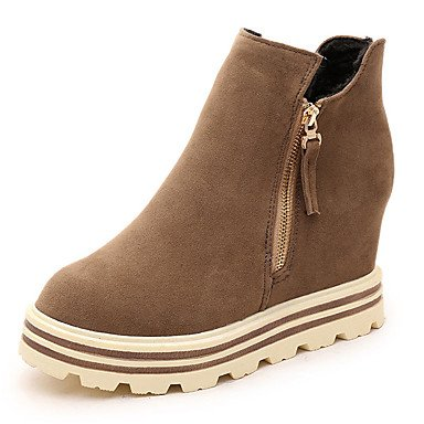 Wsx & Plm Womens-tobillo Boots-informal Formal-meseta Comfortable-meseta-suede-black Khaki, Caqui, Us7.5 / Eu38 / Uk5.5 / Cn38