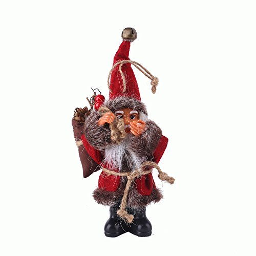 monque Santa Claus Hanging Decor Candy Bag Ornaments Pendant Xmas Decoration Party Holiday Festival Multicolor Creative Christmas Tree