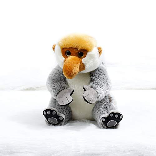 ZHWENYIN Malaysia Travel Cute Lazy Monkey Plush Doll Proboscis Monkey Mascot Plush Toy Doll Big Cartoon -