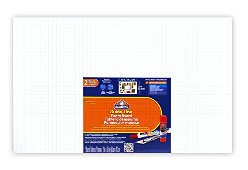 Elmer's Guide-Line Foam Display Board, 20 x 30 Inches, 3/16 Inch Thickness, White