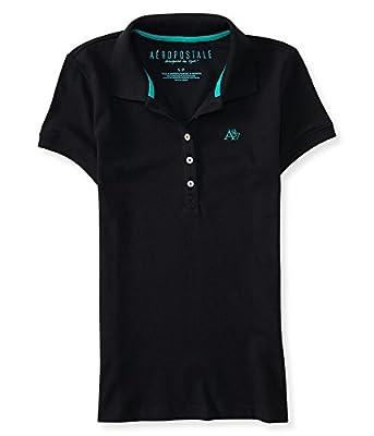 Aeropostale Women's A87 Piqué Polo Shirt