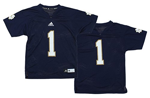 NCAA Youth Notre Dame Fighting Irish Team Color Replica Jersey, Navy (Dame Notre Adidas Jersey)