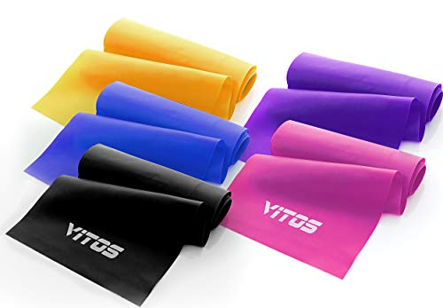 Resistance Exercise Yoga Bands | 5 Level Weights Bands Kit Pilates Core Training Legs Butt Glutes Yoga Crossfit Fitness Physical Therapy, Stretching Strength Home Equipment (Full Set (5pc))