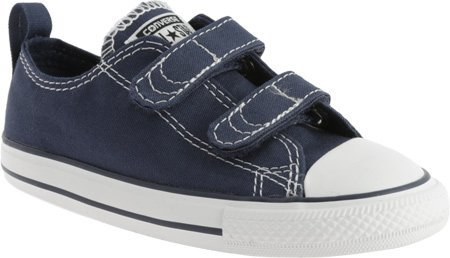 Converse Kids Unisex Chuck Taylor 2V Ox (Infant/Toddler) Athletic Navy Sneaker 8 Toddler (Converse Toddler Shoes)