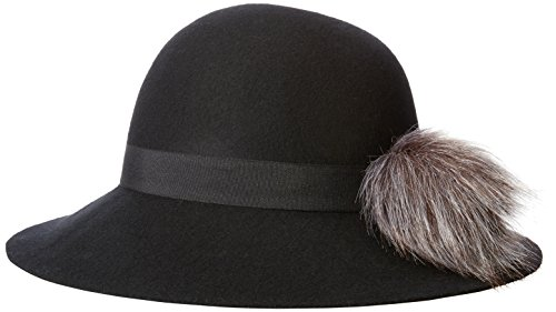 Collection XIIX Women's Short Brim Floppy Hat with Faux F...