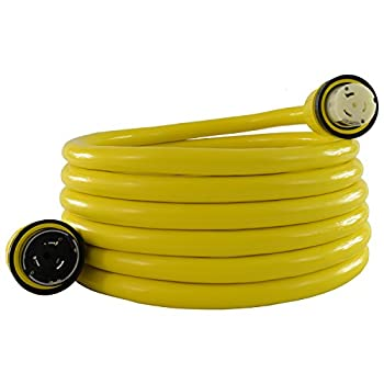 Image of Conntek 50 Amp 125/250-Volt Marine Shore Power 4 Wire Extension Cord with Threaded Ring Home Improvements