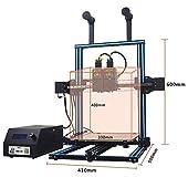 "HICTOP DUALE 3 Pro Independent Dual Extruder 3D Printer - Two Colors Printing Prusa I3 Desktop 3D Printer Print Size 11.8"" x 11.8"" x 15.7"""