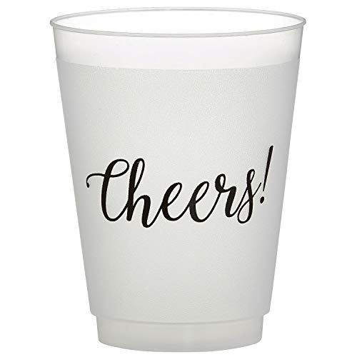 - SB Design Studio D2205 Sips Drinkware 16-Ounce Frosted Plastic Cups, 8-Count, Cheers