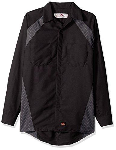 Buy red kap work shirt long sleeve diamond