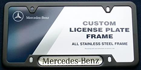 Genuine Mercedes Benz Black License Plate Frame