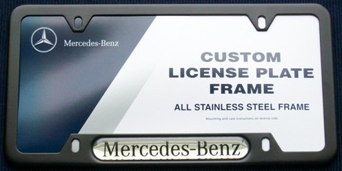 amazoncom genuine mercedes benz black license plate frame automotive
