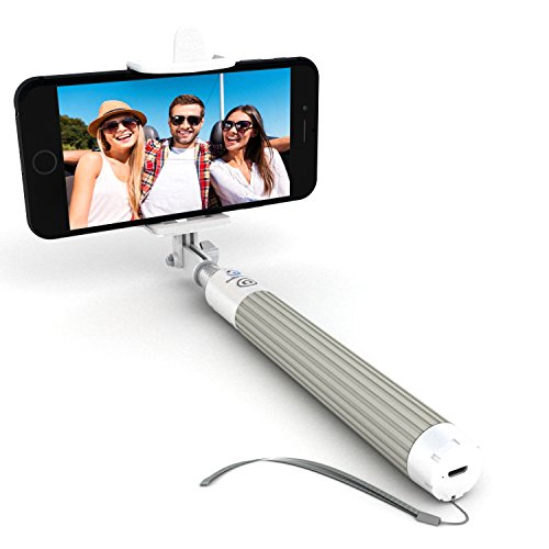 Premium 5-In-1 Bluetooth Selfie Stick For iPhone X XR XS 10 8 7 6 5, Samsung Galaxy S10 S9 S8 S7 S6 S5, Android - Selfie Sticks (Powered by USA Technology) - No Apps No Downloads No Batteries Required (Best Selfie Stick For Iphone)