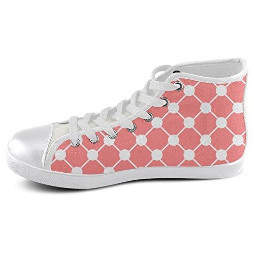 Artsadd Custom Coral Trellis Dots High Top Canvas Shoes For Men(Model002) 9JyBcxtrwu