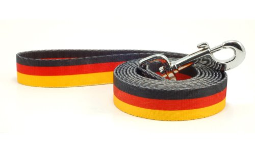Flag Lead (Germany German Flag Dog Leash Lead 6 Foot Length)