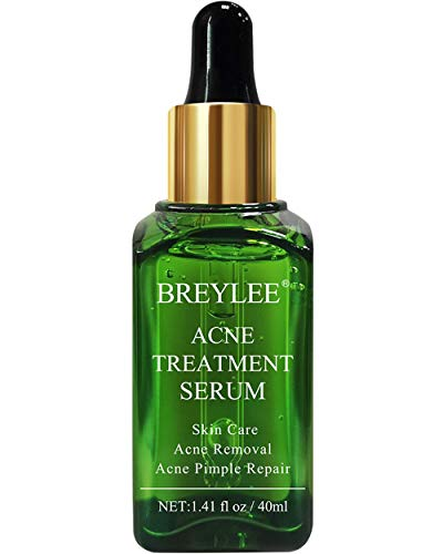 Acne Treatment Serum, BREYLEE Tea Tree Oil Clear Skin Serum for Clearing Severe Acne, Breakout, Remover Pimple and Repair Skin (40ml, 1.41fl oz)