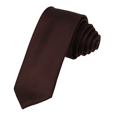 DAE2013 Sienna Certificate Skinny Necktie Matching Gift Box Set Checkered Tie For Gift ST By Dan Smith