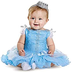 Disguise Baby Girls' Cinderella Prestige Infant Costume, Blue, 12-18 Months