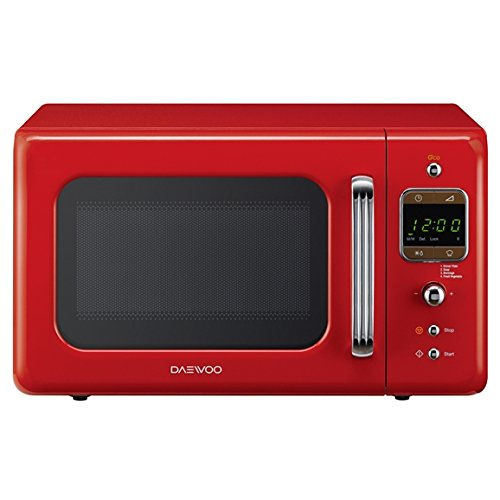 Daewoo KOR7LBKR Touch Control Microwave with Eco Zero Standby, 800 W, 20 liters, Red