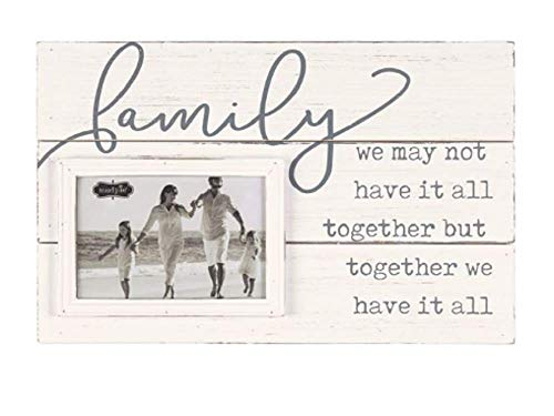 Mud Pie Planked Family Frame (Wood Picture Frame Pie Mud)