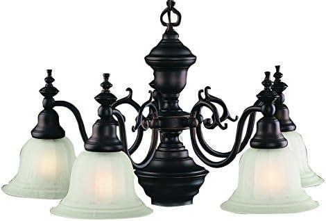 Dolan Designs 660-30 5Lt Royal Bronze Richland 5 Light with Downlight Chandelier