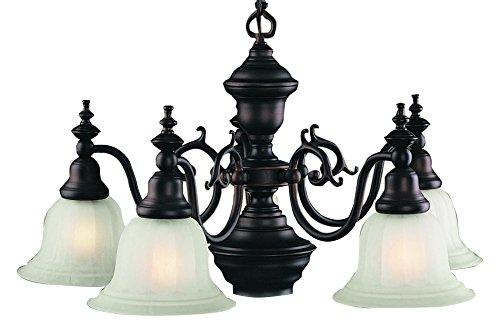 Dolan Designs 660-30 Richland 5Lt +Downlight Chandelier Richland 5 Light with Downlight Chandelierroyal Bronze, 26