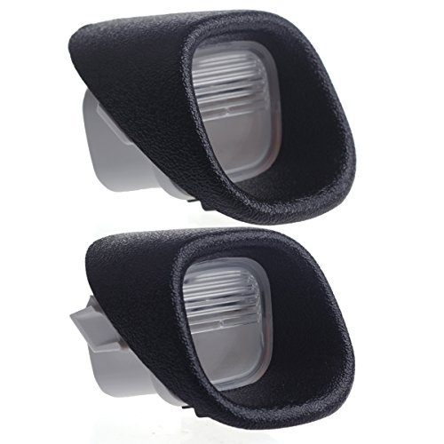 HERCOO License Plate Lights Lamp Lens Left Right Hand Housing Compatible with 1998-2005 Chevrolet Blazer Chevy S10 GMC Jimmy GMC Sonoma Oldsmobile Bravada Pickup Truck Rear Step Bumper, Pack of 2