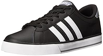 adidas NEO SE Daily Vulcanised Fashion Sneaker, Core Black/Running White/Grey, 10.5 D US