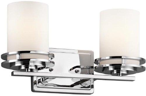 Kichler 5077CH Bath 2-Light, Chrome