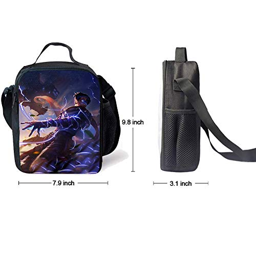 b164ded09021 Wraith Apex Legends Gaming Gamer Gift Lunch Bag Tote, Soft Insulated  Neoprene Food Container, Boys Girls School Office Travel Outdoor Work  Lunchbox ...