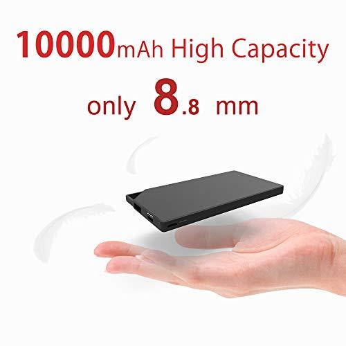 TNTOR 5000mAh Powerbank, draagbare ultradunne Power Bank voor iPhone Airpod