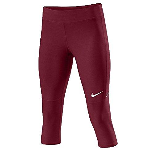 Nike Womens Running Capri Pants (X-Small, Cardinal/White) (Capri Cardinal)