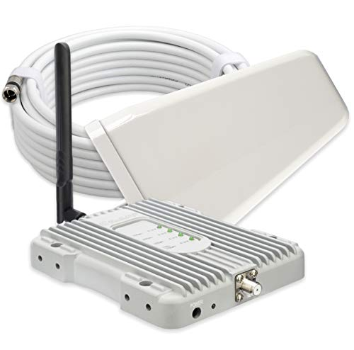 SolidRF Cell Phone Booster for Home,5 Bands Cell Phone Signal Booster for All Carriers 3G/4G LTE Supports up to 8,000 Square Foot Area