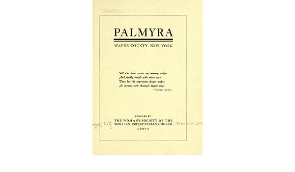 Palmyra Wayne County New York N Y Western Presbyterian Church