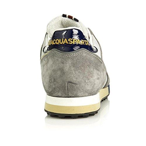 DAcquasparta Cosimo U600, Scarpa Uomo, Sneaker, Lacci, Nylon e camoscio Grigio Perla