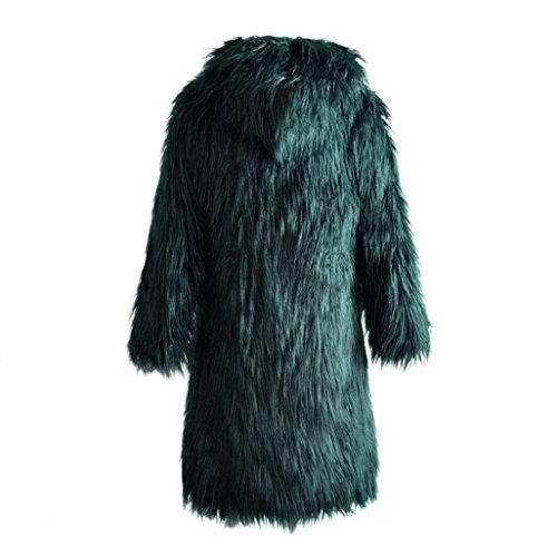 Outerwear Colored Fashion Winter Fluffy Fur Faux Long Warm Green Overcoat TM Colorful Fur Overcoat Hairy Coats Faux Hairy Jackets 84AW7w